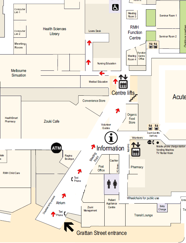 Health Sciences Library Access Map