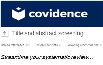 Covidence now available!